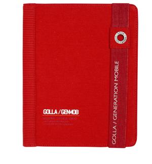 GOLLA  Paz iPad 2/3 tok, piros
