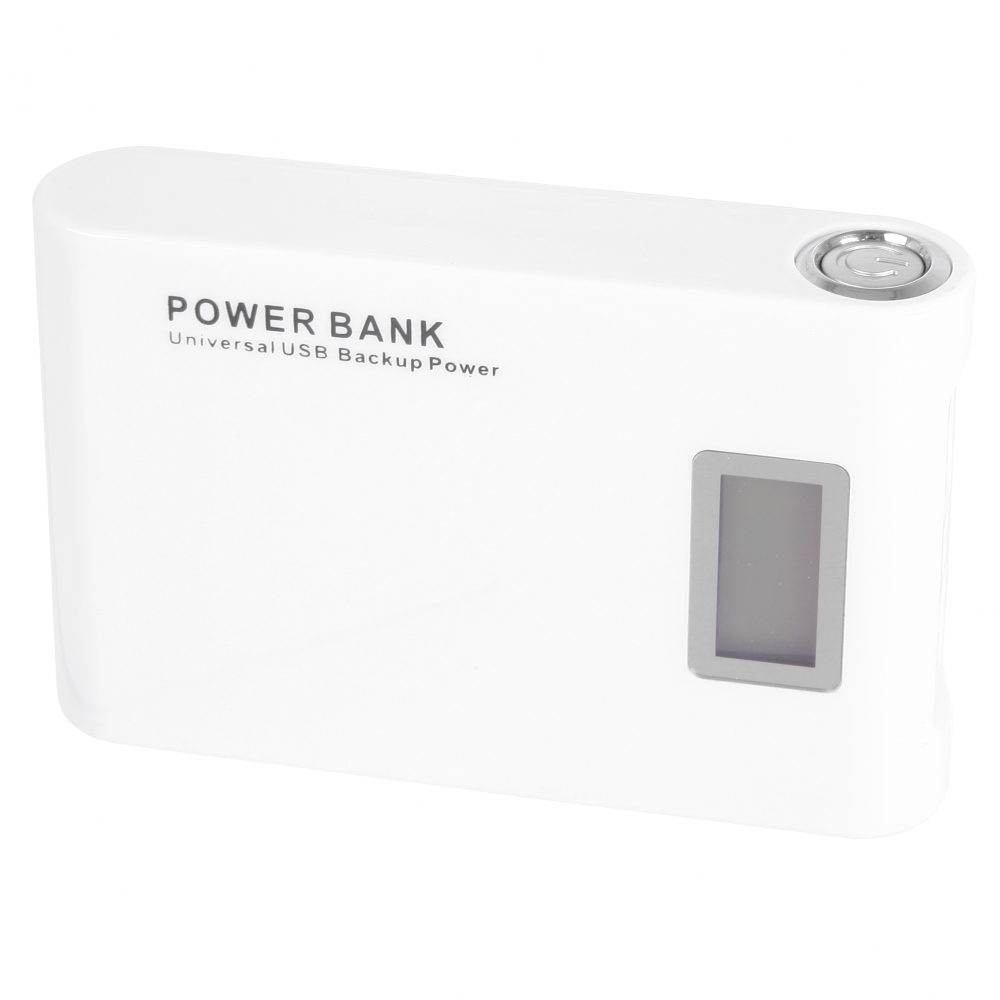 GT Power Bank LCD 12000mAh (fehér)