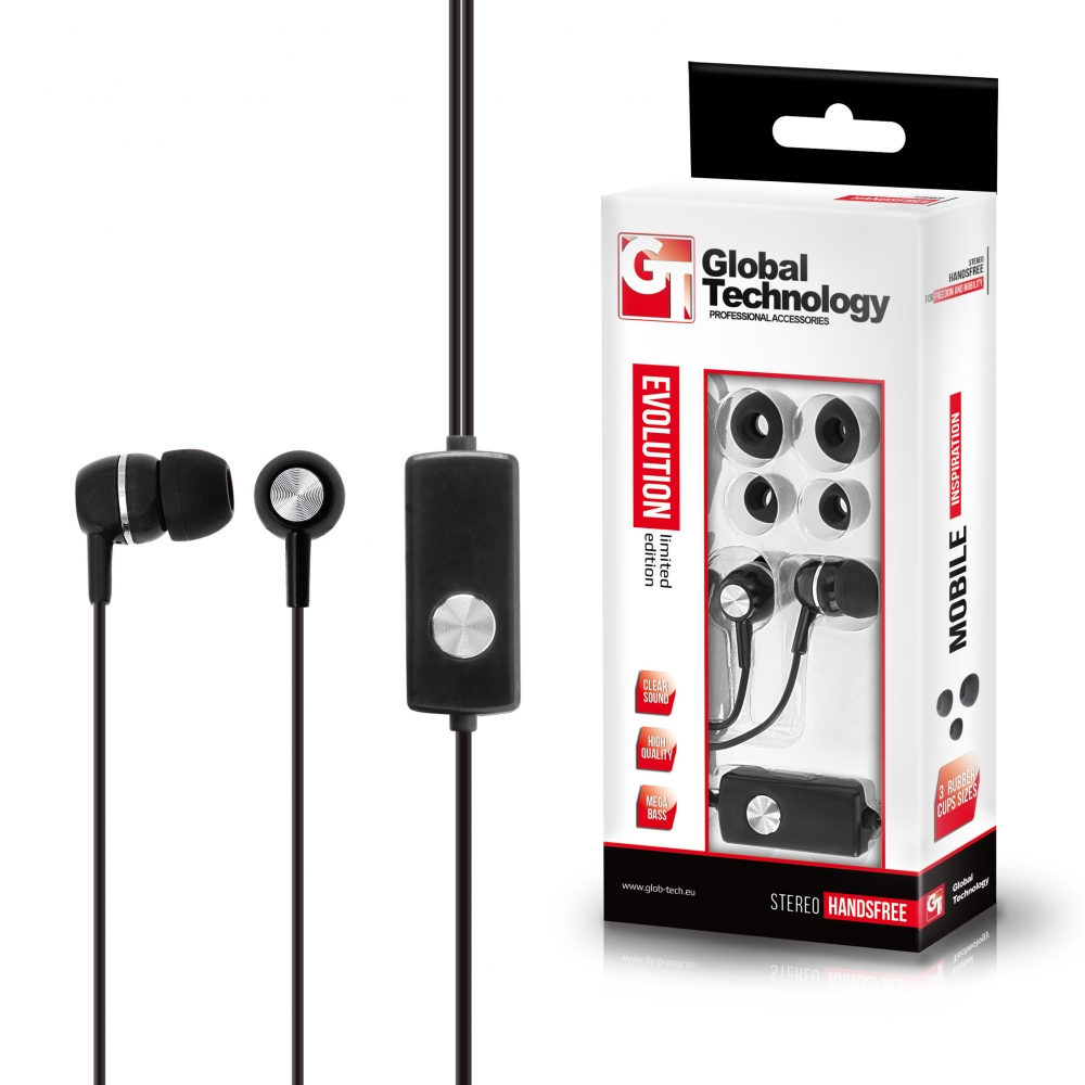 GT Bass Evolution 2 fülhallgató mikrofonnal 3.5mm (N95/Lumia/Asha)