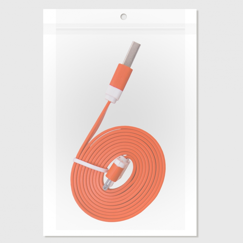 GT USB iPH.3G/3Gs/4/4s lapos narancssárga kábel