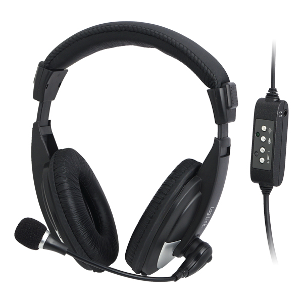 LogiLink USB-s sztereó fejhallgató