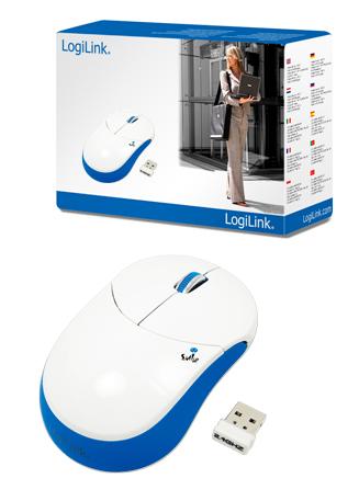 LogiLink ''Smile'' 2.4 GHz vezeték nélküli optikai egér, kék
