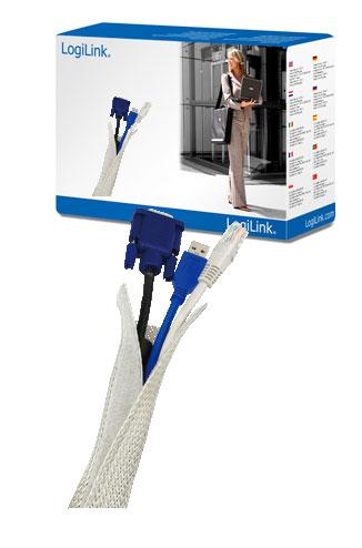 LogiLink Flexibilis kábel burkolat, szürke