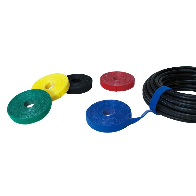 LogiLink vágható tépőzáras kábelkötegelő, 4m x 16mm - fekete