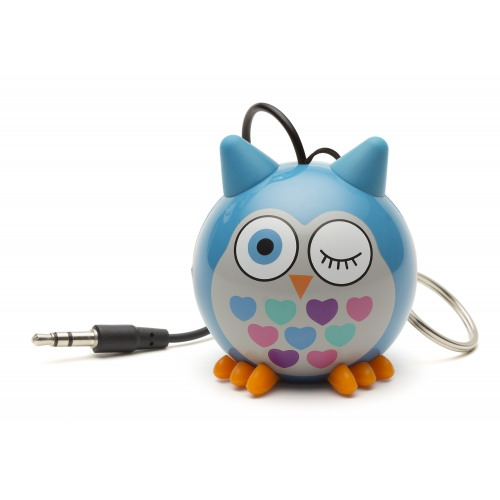 KitSound Mini Buddy Speaker bagoly kék