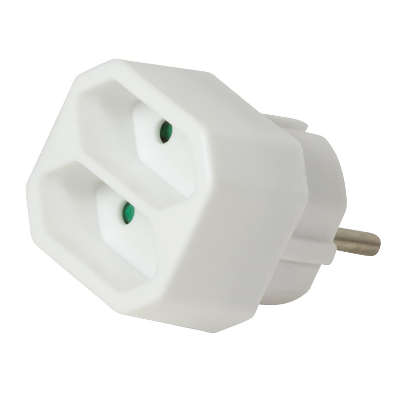 LogiLink Socket Adapter, 2x Euro