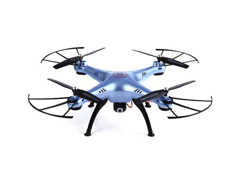 Syma X5HC drón/quadcopter 2.4G 4-Channel with Gyro + Camera + 4GB microSD Kék