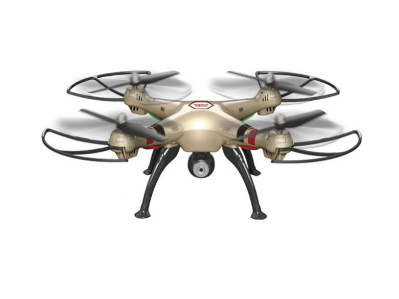 Syma X8HC drón/quadcopter 2.4G 4-Channel with Gyro + Camera (Arany)