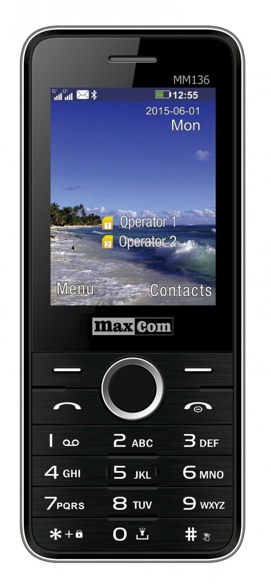 Maxcom MM136CZSR Dual SIM Mobiltelefon fekete/ezüst