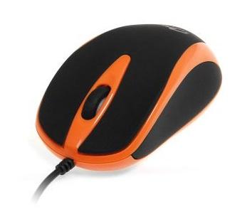 Media Tech PLANO USB-s egér, narancssárga