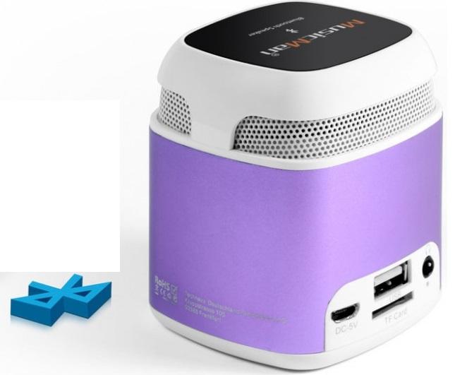MusicMan Makro NFC-X6 Bluetooth Zeneállomás Lila