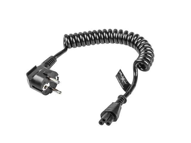 COILED POWER CORD FOR LAPTOP (MICKEY) C5 0.5-1.5M NATEC EXTREME MEDIA (BLISTER)