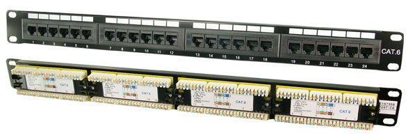 LogiLink CAT6 Patch Panel, árnykolatlan