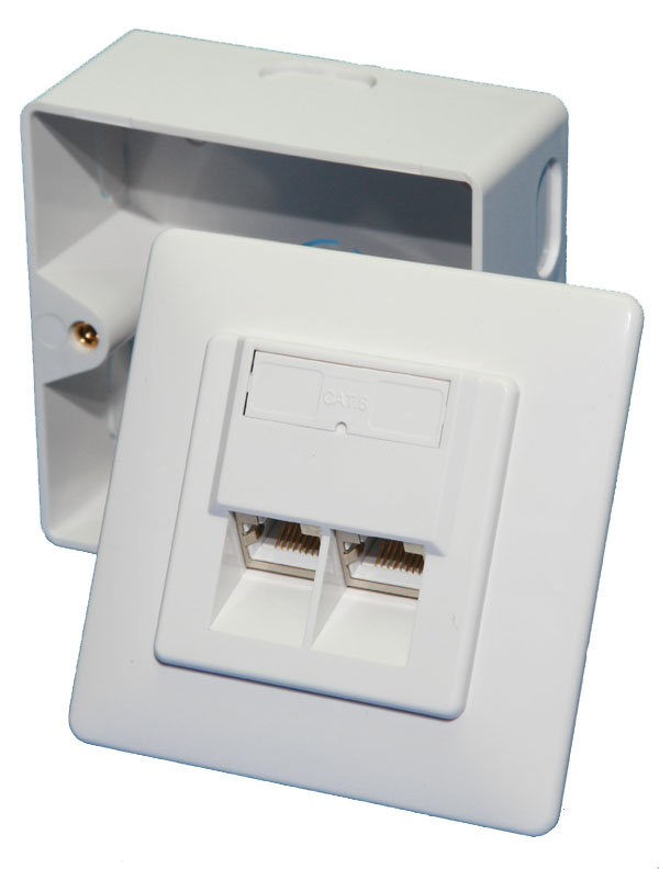 LogiLink CAT6 Surface Modular Outlet