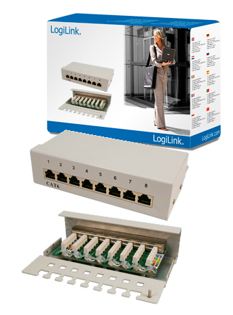 LogiLink CAT6 Patch Panel 8-Port