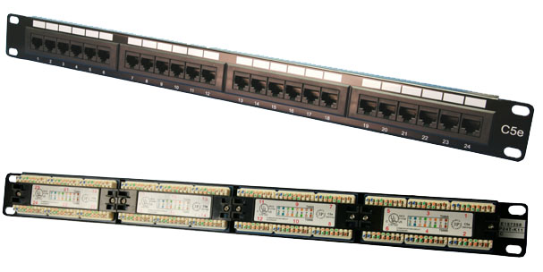 LogiLink CAT5e Patch Panel, UTP, 24-Port
