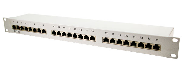 LogiLink CAT5e Patch panel, FTP, 24-Port, Grey