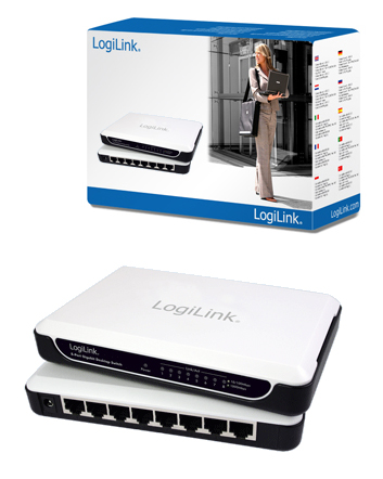 LogiLink 8 portos Gigabit Ethernet Asztali Switch