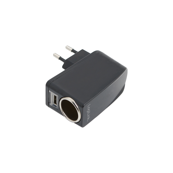 LogiLink Hálózati szivargyújtó töltő, 1-port USB, 1000mA