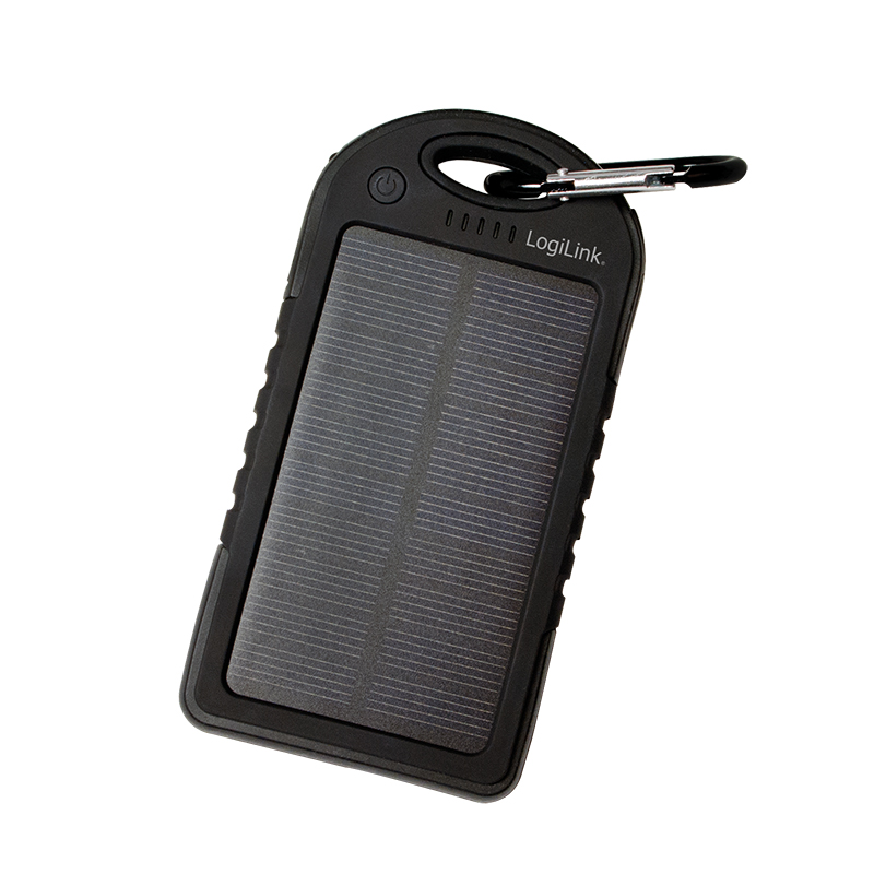 LogiLink Universal Solar Charger, 5000 mAh, Black