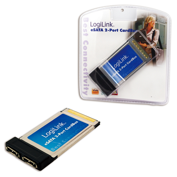 Logilink PC Card, 2-Port eSATA