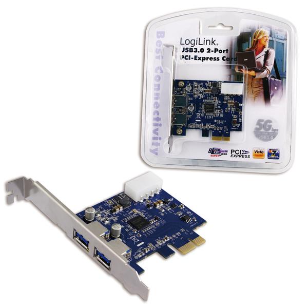 Logilink USB 3.0-ás 2 portos PCI-Express kártya