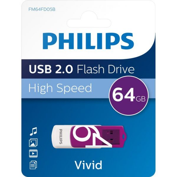 Philips Vivid 64Gb USB Flash Drive
