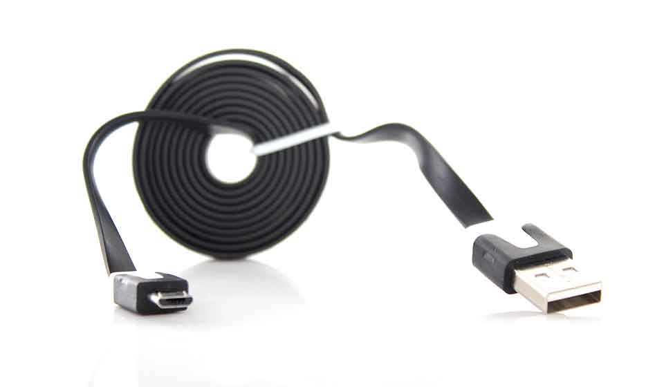 NOODLE USB DATA CABLE MICRO USB BLACK 3M