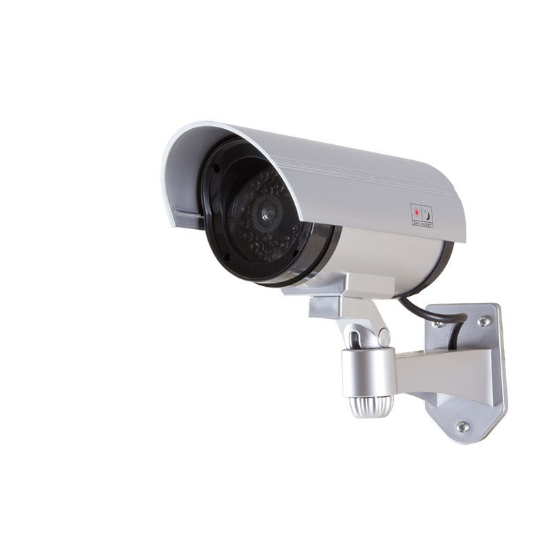 LogiLink Dummy Security Camera with Red Flashing Light, Silver