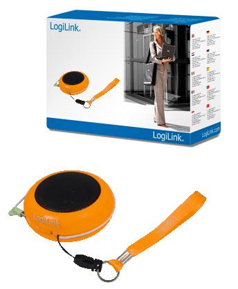 Logilink Hordozható MP3 hangszóró, narancs