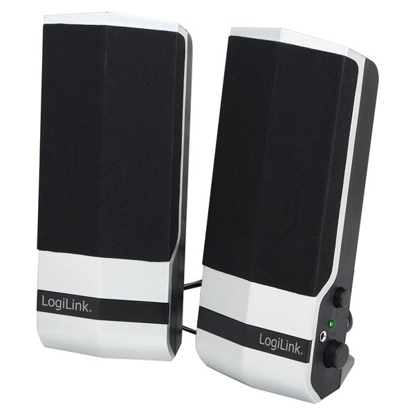 LogiLink USB2.0 aktív asztali hangszóró, fekete-ezüst