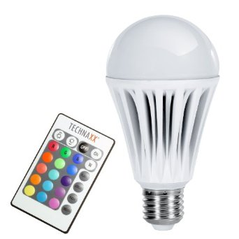 Technaxx RGB LED lámpa E27 10W