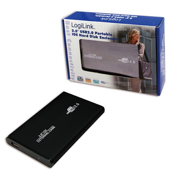 Logilink 2.5''-os USB 2.0-ás hordozható IDE merevlemez ház