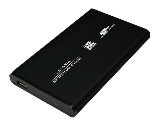 LogiLink 2.5''-os USB 2.0-ás hordozható SATA-s merevlemez ház