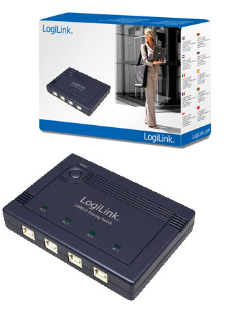 LogiLink USB 2.0 elosztó switch