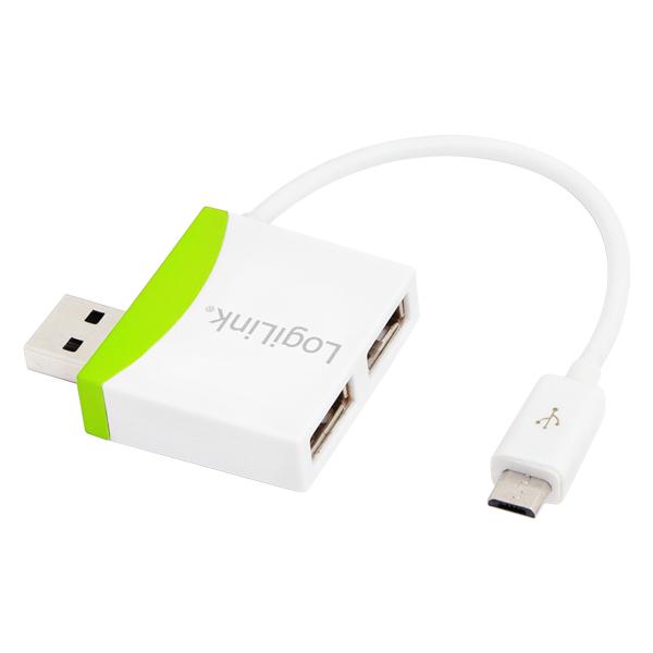 LogiLink 2 portos USB 2.0 hub Micro USB kábellel
