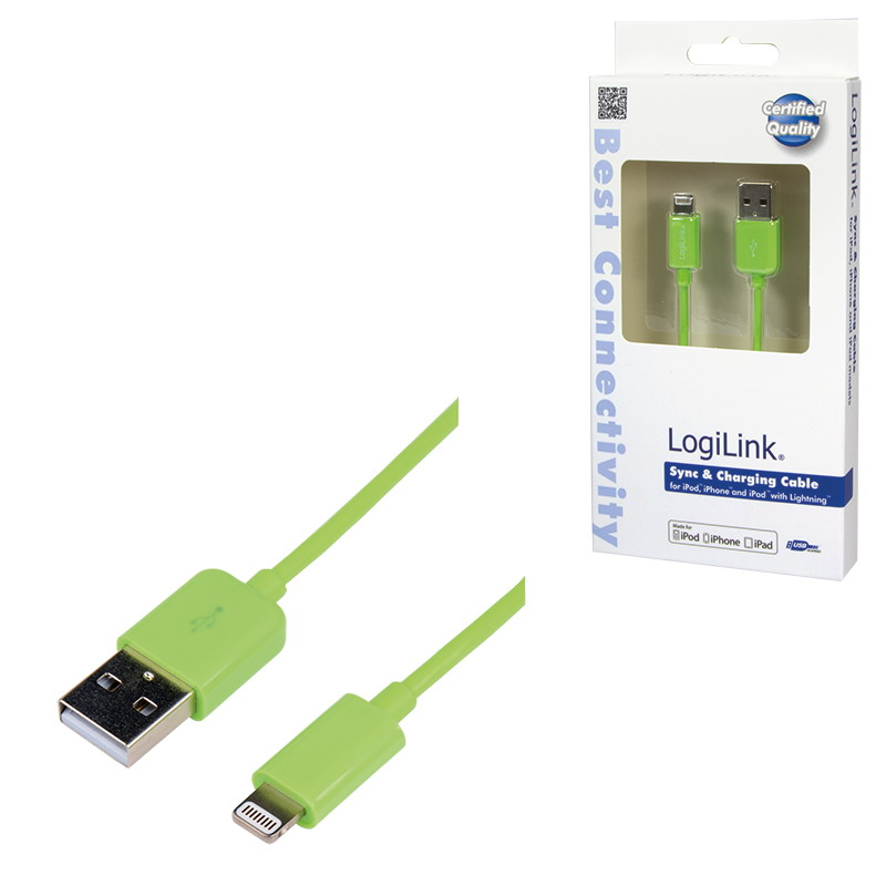 Logilink Apple® Lightning - USB csatlakozó kábel, 1.00 m, sárga