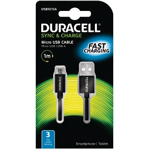 Duracell Sync/Charge Cable 1 Metre Black