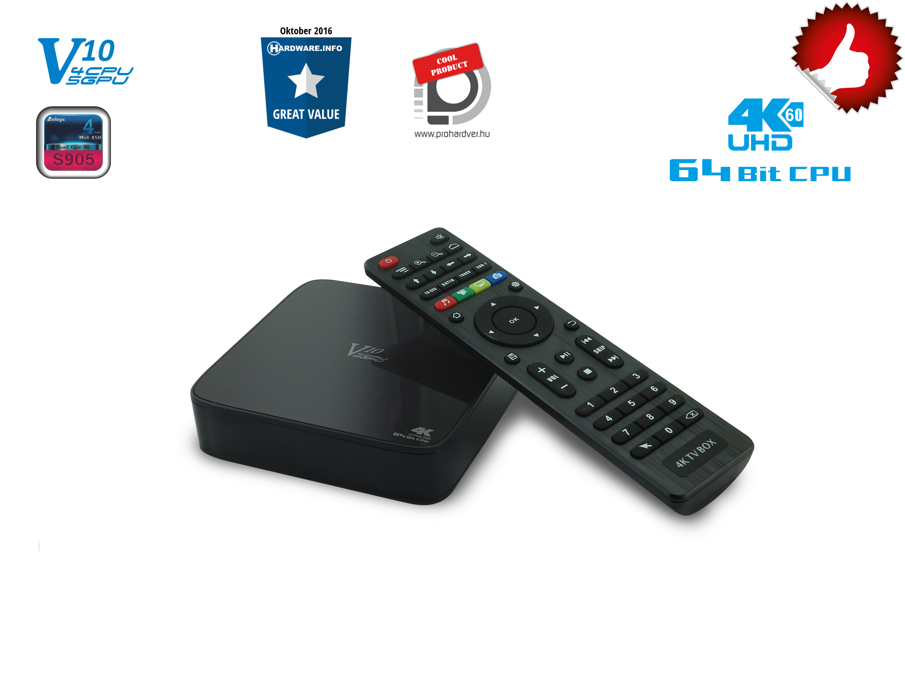 VENZ V10 S905 Android Streaming TV Box