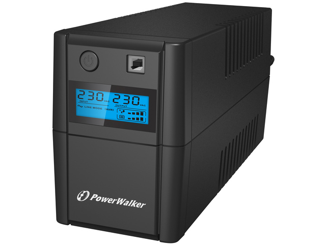 PowerWalker UPS LINE-INTERACTIVE 850VA, 2X 230V, RJ11 IN/OUT, USB, LCD