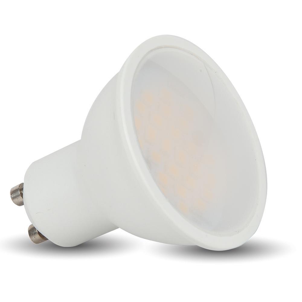 V-TAC LED spotlámpa – 7W GU10 SMD fehér muanyag Természetes fehér