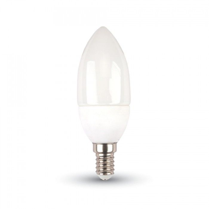 V-TAC 3W E14 gyertya Természetes fehér LED izzó